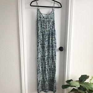 Blue Animal Print Forever 21 Maxi Dress 👗